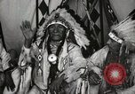 Image of Native American Indian Chief Deer Nose introduces himself Fort Browning Montana USA, 1930, second 6 stock footage video 65675025298