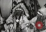Image of Native American Indian Chief Deer Nose introduces himself Fort Browning Montana USA, 1930, second 9 stock footage video 65675025298
