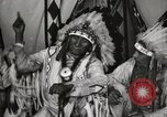 Image of Native American Indian Chief Deer Nose introduces himself Fort Browning Montana USA, 1930, second 11 stock footage video 65675025298