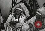 Image of Native American Indian Chief Deer Nose introduces himself Fort Browning Montana USA, 1930, second 12 stock footage video 65675025298