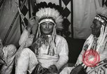 Image of Native American Indian Chief James Eagle introduces himself Fort Browning Montana USA, 1930, second 7 stock footage video 65675025299