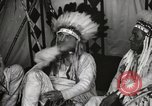 Image of Native American Indian Chief James Eagle introduces himself Fort Browning Montana USA, 1930, second 9 stock footage video 65675025299