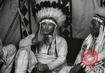 Image of Native American Indian Chief James Eagle introduces himself Fort Browning Montana USA, 1930, second 10 stock footage video 65675025299