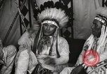 Image of Native American Indian Chief James Eagle introduces himself Fort Browning Montana USA, 1930, second 11 stock footage video 65675025299