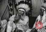Image of Native American Indian Chief James Eagle introduces himself Fort Browning Montana USA, 1930, second 12 stock footage video 65675025299
