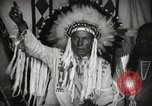 Image of Native American Indian Chief Foolish Woman introduces himself Fort Browning Montana USA, 1930, second 7 stock footage video 65675025300