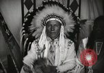 Image of Native American Indian Chief Foolish Woman introduces himself Fort Browning Montana USA, 1930, second 9 stock footage video 65675025300