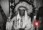 Image of Native American Indian Chief Foolish Woman introduces himself Fort Browning Montana USA, 1930, second 10 stock footage video 65675025300