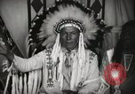 Image of Native American Indian Chief Foolish Woman introduces himself Fort Browning Montana USA, 1930, second 11 stock footage video 65675025300