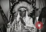 Image of Native American Indian Chief Foolish Woman introduces himself Fort Browning Montana USA, 1930, second 12 stock footage video 65675025300