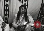 Image of Native American Indian Chief Strange Owl Fort Browning Montana USA, 1930, second 11 stock footage video 65675025301
