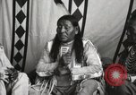 Image of Native American Indian Chief Strange Owl Fort Browning Montana, 1930, second 12 stock footage video 65675025301