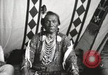 Image of Native American Indian Chief Bird Rattler of Blood Tribe Fort Browning Montana USA, 1930, second 6 stock footage video 65675025302