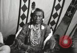 Image of Native American Indian Chief Bird Rattler of Blood Tribe Fort Browning Montana USA, 1930, second 11 stock footage video 65675025302