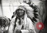 Image of Arapahoe Native American Indian Chief Tom White Horse Fort Browning Montana USA, 1930, second 7 stock footage video 65675025305