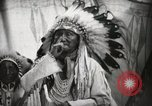 Image of Arapahoe Native American Indian Chief Tom White Horse Fort Browning Montana USA, 1930, second 8 stock footage video 65675025305