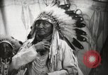 Image of Arapahoe Native American Indian Chief Tom White Horse Fort Browning Montana USA, 1930, second 9 stock footage video 65675025305