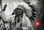 Image of Arapahoe Native American Indian Chief Tom White Horse Fort Browning Montana USA, 1930, second 10 stock footage video 65675025305