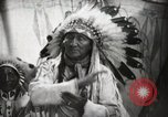 Image of Arapahoe Native American Indian Chief Tom White Horse Fort Browning Montana USA, 1930, second 11 stock footage video 65675025305