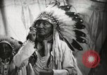 Image of Arapahoe Native American Indian Chief Tom White Horse Fort Browning Montana USA, 1930, second 12 stock footage video 65675025305