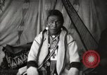 Image of Sarcee tribe Native American Indian Chief Fine Young Man Fort Browning Montana USA, 1930, second 7 stock footage video 65675025308