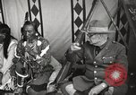 Image of Native American Indian Tribal Council members tell jokes Fort Browning Montana USA, 1930, second 12 stock footage video 65675025317