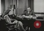 Image of American Woman as secretary New York United States USA, 1950, second 2 stock footage video 65675025322