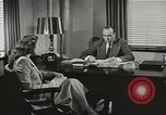 Image of American Woman as secretary New York United States USA, 1950, second 3 stock footage video 65675025322