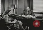 Image of American Woman as secretary New York United States USA, 1950, second 4 stock footage video 65675025322