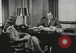 Image of American Woman as secretary New York United States USA, 1950, second 7 stock footage video 65675025322