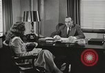 Image of American Woman as secretary New York United States USA, 1950, second 8 stock footage video 65675025322