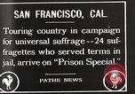 Image of Women suffragettes San Francisco California USA, 1918, second 1 stock footage video 65675025351