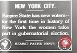Image of Women vote New York City USA, 1920, second 1 stock footage video 65675025353