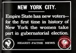 Image of Women vote New York City USA, 1920, second 2 stock footage video 65675025353