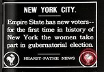 Image of Women vote New York City USA, 1920, second 4 stock footage video 65675025353
