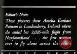Image of Amelia Earhart Putnam Londonderry Ireland, 1932, second 2 stock footage video 65675025355