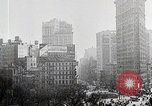 Image of Flat Iron Building New York City USA, 1919, second 5 stock footage video 65675025401