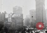 Image of Flat Iron Building New York City USA, 1919, second 8 stock footage video 65675025401