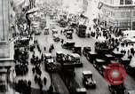 Image of busy street New York United States USA, 1919, second 1 stock footage video 65675025402