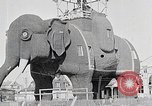 Image of giant wooden elephant with skin of hammered tin Margate New Jersey USA, 1919, second 3 stock footage video 65675025408