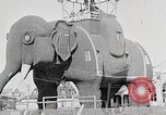 Image of giant wooden elephant with skin of hammered tin Margate New Jersey USA, 1919, second 4 stock footage video 65675025408