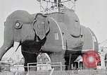 Image of giant wooden elephant with skin of hammered tin Margate New Jersey USA, 1919, second 6 stock footage video 65675025408