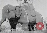 Image of giant wooden elephant with skin of hammered tin Margate New Jersey USA, 1919, second 7 stock footage video 65675025408