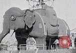 Image of giant wooden elephant with skin of hammered tin Margate New Jersey USA, 1919, second 8 stock footage video 65675025408