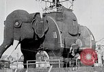 Image of giant wooden elephant with skin of hammered tin Margate New Jersey USA, 1919, second 9 stock footage video 65675025408