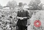 Image of Luther Burbank with cactus United States USA, 1919, second 2 stock footage video 65675025419