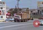 Image of traffic on road Naha City Okinawa Japan, 1972, second 12 stock footage video 65675025525