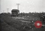 Image of U.S. Army motor convoy vehicles bog down in mud Nebraska USA, 1919, second 6 stock footage video 65675025549