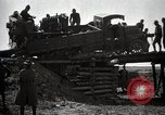 Image of U.S. Army convoy truck breaks through wooden bridge Wyoming United States USA, 1919, second 1 stock footage video 65675025554