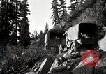 Image of U.S. Army motor transport convoy crossing mountains California United States USA, 1919, second 3 stock footage video 65675025559
